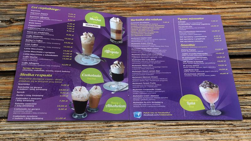 Drukarnia ProInbud w Ustroniu wykonuje menu i cenniki